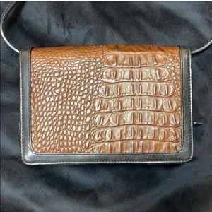 Brahmin Crocodile Leather Crossbody Bag